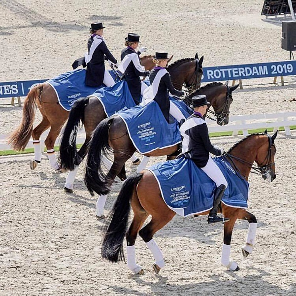 The German team won the gold of the European Dressage Championship for the 24th time