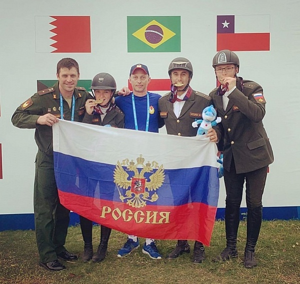 The Russian team won the team Gold at the World War Games in China