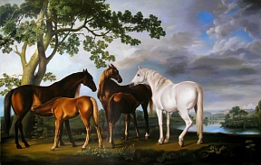 Horse paintitng by George Stubbs