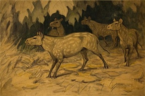 Vasily Vatagin - creator of watercolor images of primitive horses